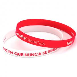 Pulsera embossed Sevilla FC rojo blanco junior
