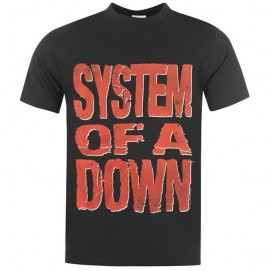 Camiseta System Of A Down (letras rojas)