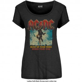 CAMISETA AC/DC MUJER (BLOW UP YOUR VIDEO)