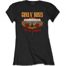 CAMISETA GUNS N´ROSES MUJER (WELCOME TO THE JUNGLE)