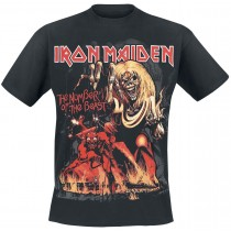 CAMISETA IRON MAIDEN (NUMBER OF THE BEAST)
