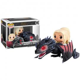 Figura POP Game of Thrones Daenerys & Drogon 18cm - Imagen 2