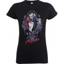CAMISETA SUICIDE SQUAD MUJER (HARLEYS MONSTER)