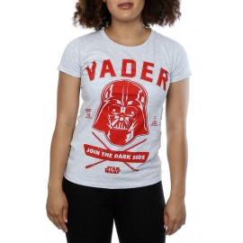 CAMISETA STAR WARS MUJER (DARTH VADER COLLEGIATE)