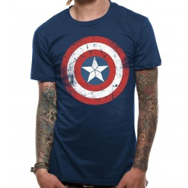 Camiseta Capitán América Civil War (shield distressed)