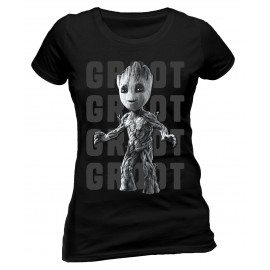 CAMISETA GUARDIANES DE LA GALAXIA VOL 2 MUJER (BABY GROOT PHOTO)