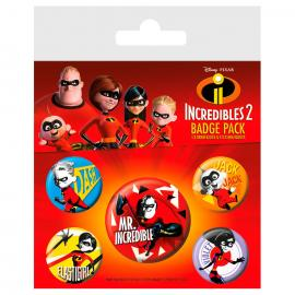 Set chapas Los Increibles Disney