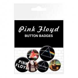 Set chapas Album and Logos Pink Floyd