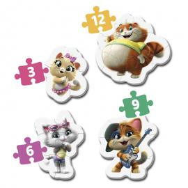 Puzzle My First Puzzle Cats 44 3-6-9-12pzs