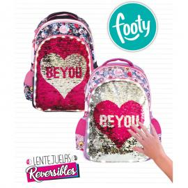 Mochila LED lentejuelas Be You adaptable 45cm