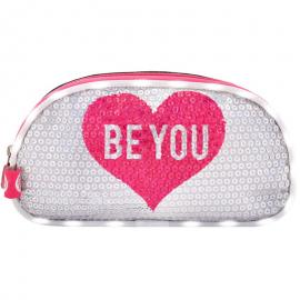 Portatodo LED lentejuelas Be You doble