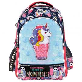 Mochila LED Ice Cream Unicornio adaptable 45cm