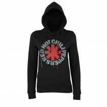 SUDADERA CON CAPUCHA RED HOT CHILI PEPPERS MUJER (STENCIL ASTERISKS)