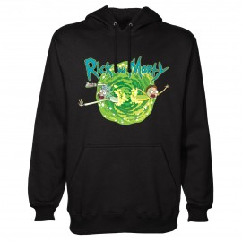 Sudadera Con Capucha Rick And Morty (Black Portal)