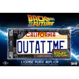 Replica matricula DeLorean Outatime Regreso al Futuro