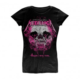 CAMISETA METALLICA MUJER (WHEREVER I MAY ROAM)