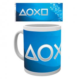 Taza Playstation silver buttons