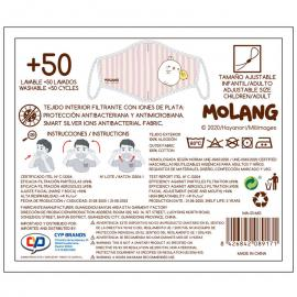 Kit mascarilla + Gel hidroalcoholico 100ml Personajes Molang