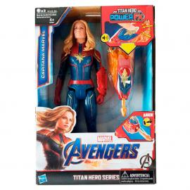 Figura Titan Hero Power Capitana Marvel Vengadores Marvel 30cm