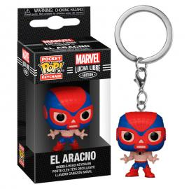 Llavero Pocket POP Marvel Luchadores Spiderman El Aracno