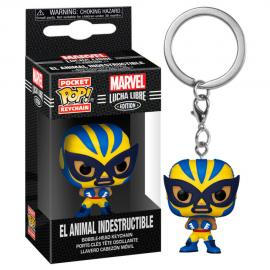Llavero Pocket POP Marvel Luchadores Wolverine El Animal Indestructible