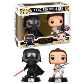 Set 2 figuras POP Star Wars Rise of Skywalker Kylo and Rey Exclusive