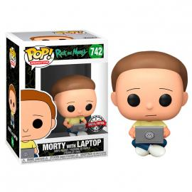 Figura POP Rick and Morty - Morty with Laptop Exclusive