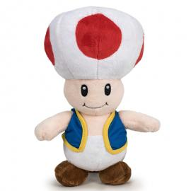 Peluche Toad Super Mario Bros soft 26cm