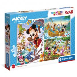 Puzzle Mickey and Friends Disney 3x48pzs