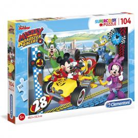 Puzzle Mickey and the Roadster Racers Disney 104pzs