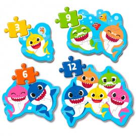 Puzzle My First Puzzle Baby Shark 3-6-9-12pzs
