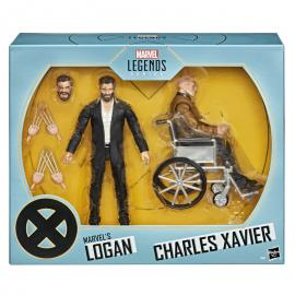 Set 2 figuras Logan y Charles Xavier X-Men Marvel Legends Series 15cm
